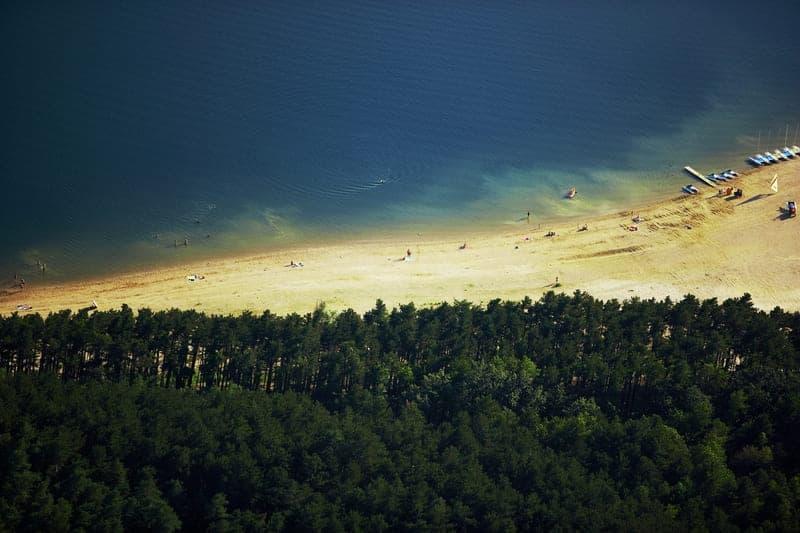 plage du lac de saint ferreol