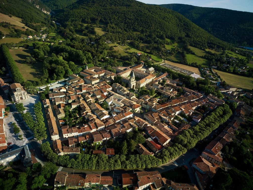 village Tarn vu du ciel