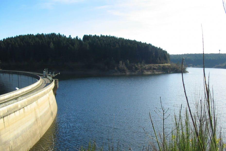 Lac des cammazes, réserve eau canal du midi, tarn