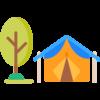 icone camping tente