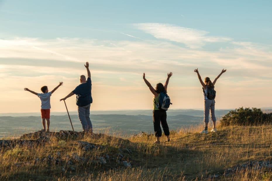 Famille haut montagne